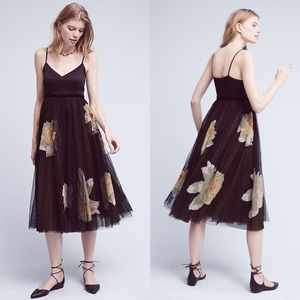 Anthro Moulinette Souers Saffron Tulle Dress in 14